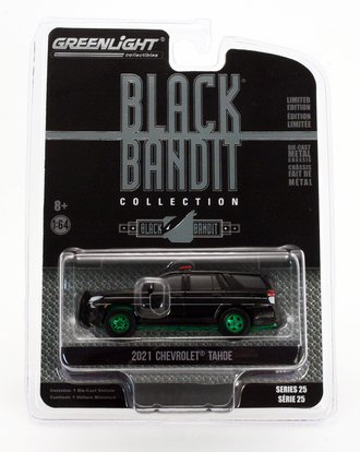 "Chase 1:64 Black Bandit Series 25 - 2021 Chevrolet Tahoe ""Black Bandit Police"""