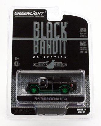 Chase 1:64 Black Bandit Series 25 - 2021 Ford Bronco Wildtrak