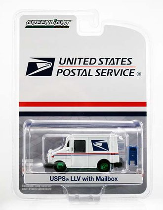 Chase 1:64 USPS Long-Life Postal Delivery Vehicle (LLV) w/Mailbox