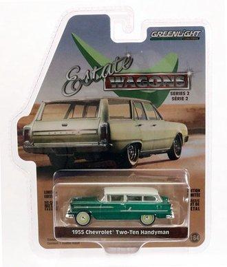 Chase 1:64 1955 Chevrolet Two-Ten Handyman *** GREEN Body ***