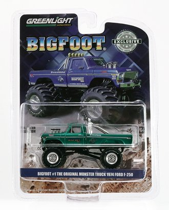 Chase 1:64 Bigfoot #1 1974 Ford F-250 Monster Truck *** GREEN Body *** (2020 Release Version)