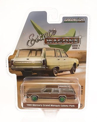 Chase 1:64 Estate Wagons Series 4 - 1980 Mercury Grand Marquis Colony Park (Dark Chamois Metallic)