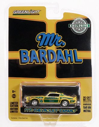 "Chase 1:64 Bardahl - 1970 Chevrolet Camaro ""Mr. Bardahl"" *** Green Body Accents ***"