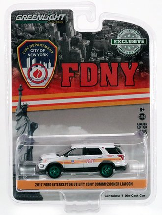 """Chase 1:64 2017 Ford PI Utility """"FDNY Commissioner Liaison"""""""