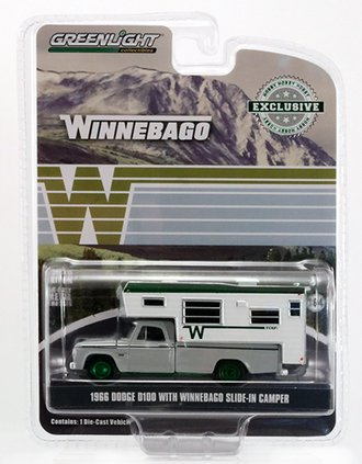 Chase 1:64 1966 Dodge D-100 w/Winnebago Slide-In Camper