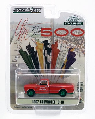 """Chase 1:64 1967 Chevrolet C-10 Pickup """"51st Annual Indianapolis 500 Mile Race Official Fire Truck"""""""