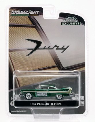 Chase 1:64 1957 Plymouth Fury - Daytona Beach Speed Weeks February 3-17, 1957 *** GREEN Body ***