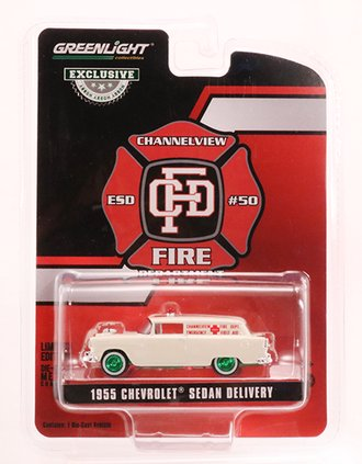 """Chase 1:64 1955 Chevrolet Sedan Delivery """"Channelview, Texas Fire Department Volunteer Emergency Car"""""""