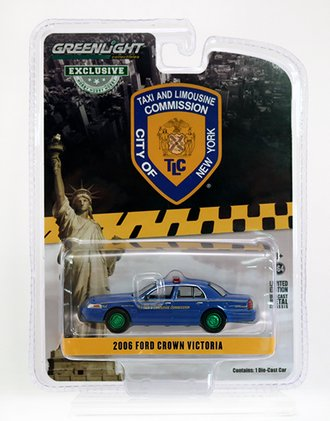 """Chase 1:64 2011 Ford Crown Victoria """"New York City Taxi and Limousine Commission"""""""