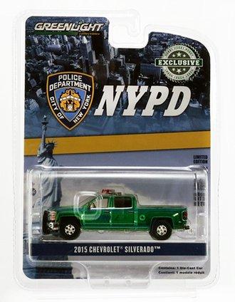 "Chase 1:64 2015 Chevrolet Silverado Pickup ""New York City Police Dept (NYPD)"" *** GREEN Body ***"