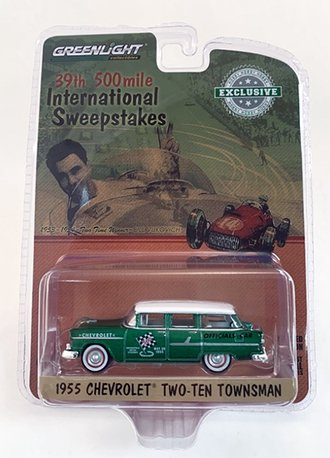 """Chase 1:64 1955 Chevy Townsman """"39th International 500 Mile Sweepstakes"""" *** Green Body ***"""