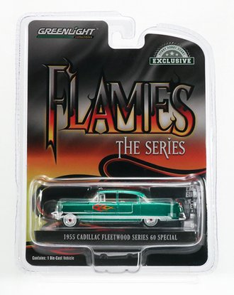 Chase 1:64 Flames The Series - 1955 Cadillac Fleetwood Series 60 Special *** GREEN Body ***