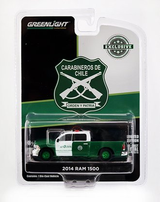 "Chase 1:64 2014 Ram 1500 Police ""Carabineros de Chile"""