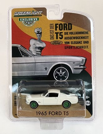 Chase 1:64 1965 Ford T5 Mustang (White)