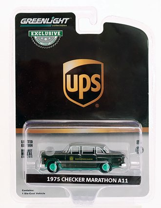 "Chase 1:64 1975 Checker Taxicab Parcel Delivery ""United Parcel Service (UPS) Canada Ltd."""