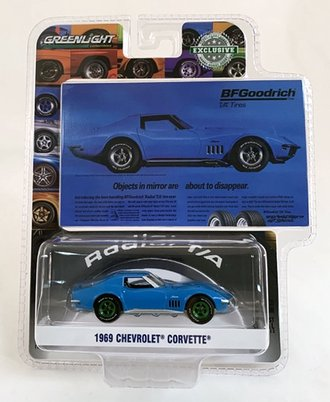 """Chase 1:64 BFGoodrich Vintage Ad Cars - 1969 Chevrolet Corvette """"Objects In Mirror Are About To Disappear"""