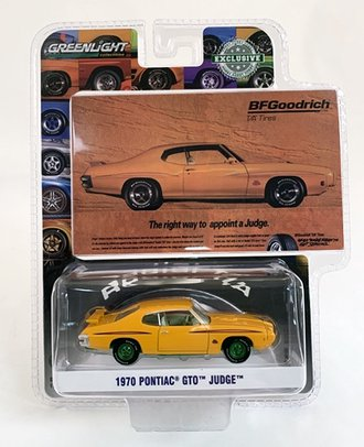 """Chase 1:64 BFGoodrich Vintage Ad Cars - 1970 Pontiac GTO Judge """"The Right Way To Appoint A Judge"""""""