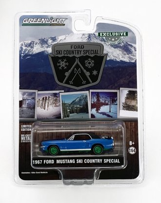 """Chase 1:64 1967 Ford Mustang Coupe """"Ski Country Special"""" (Vail Blue)"""