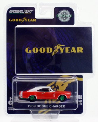 "Chase 1:64 1969 Dodge Charger Wide Boots GT ""The low, wide look of action from Goodyear"""