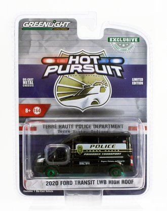 "Chase 1:64 2020 Ford Transit LWB High Roof ""Terre Haute, IN Police Prisoner Transport"""