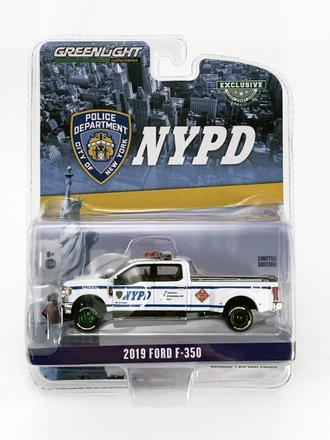 "Chase 1:64 2019 Ford F-350 Dually ""NYPD Class 3 Hazmat"" w/Snow Plow"