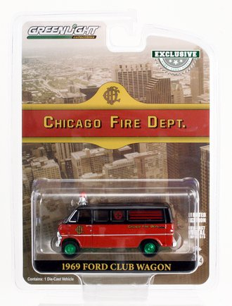 """Chase 1:64 1969 Ford Club Wagon Ambulance """"Chicago Fire Department"""""""