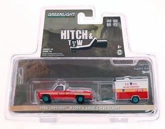 "Chase 1:64 1986 Chevrolet M1008 CUCV ""FDNY Haz-Mat Operations"" w/Small Cargo Trailer"