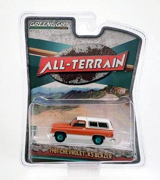 Chase 1:64 All-Terrain Series 9 - 1981 Chevrolet K5 Blazer (Burnt Orange Metallic/Frost White)