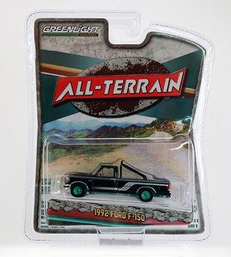 Chase 1:64 All-Terrain Series 9 - 1992 Ford F-150 4x4 Pickup (Raven Black w/Silver Stripes)
