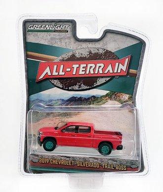 Chase 1:64 All-Terrain Series 9 - 2019 Chevrolet Silverado LT Trail Boss (Red Hot)