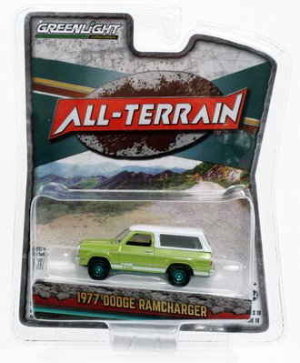 Chase 1:64 All-Terrain Series 10 - 1977 Dodge Macho Ramcharger 4x4 with Four By Four Stripe Kit