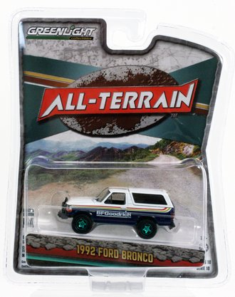 "Chase 1:64 All-Terrain Series 10 - 1992 Ford Bronco with Off-Road Parts ""BFGoodrich Tires"""