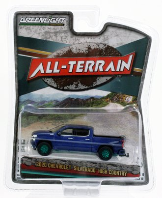 Chase 1:64 All-Terrain Series 10 - 2020 Chevrolet Silverado High Country (North Sky Blue Metallic)