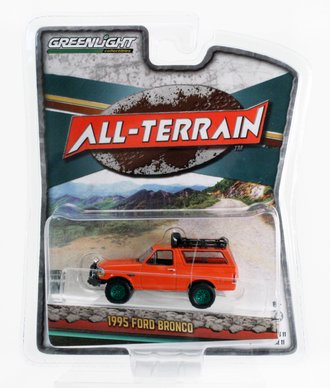 Chase 1:64 1995 Ford Bronco Sport w/Off-Road Parts (Orange)