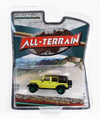 Chase 1:64 2008 Jeep Wrangler Unlimited Rubicon (Detonator Yellow)