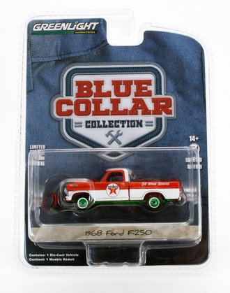Chase 1:64 Blue Collar Collection Series 9 - 1968 Ford F-250 with Snow Plow - Texaco Service