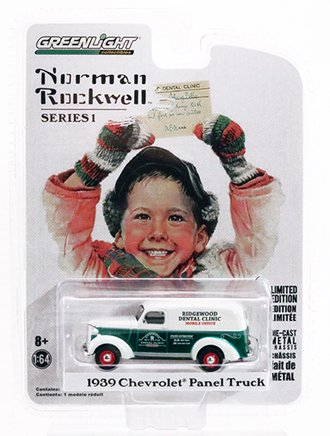 Chase 1:64 Norman Rockwell 1939 Chevrolet Panel Truck *** GREEN Body ***