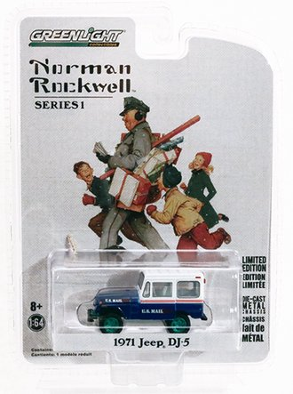 """Chase 1:64 Norman Rockwell 1971 Jeep DJ-5 """"U.S. Mail"""""""