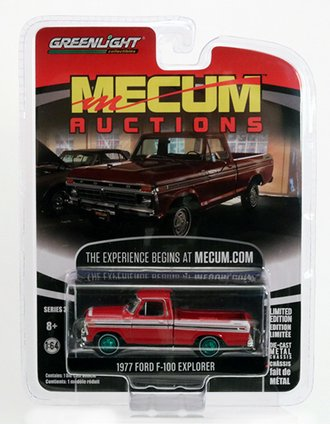 """Chase 1:64 Mecum Auctions - 1977 Ford F-100 (Red) """"Kissimmee 2018"""""""