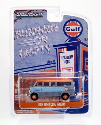 "Chase 1:64 1968 Ford Club Wagon ""Gulf Oil"" *** Raw Casting ***"