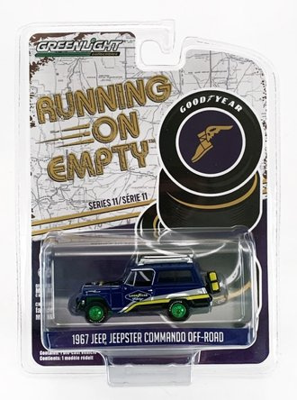 "Chase 1:64 Running on Empty Series 11 - 1967 Jeep Jeepster Commando Off-Road ""Goodyear Racing"""