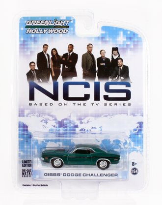 Chase 1:64 NCIS Gibb's 1970 Dodge Challenger R/T *** GREEN Body ***