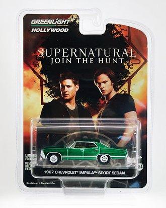 Chase 1:64 Supernatural 1967 Chevrolet Impala Sedan *** Green Body ***
