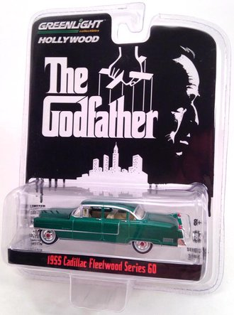 Chase 1:64 The Godfather (1972) 1955 Cadillac Fleetwood Series 60 Special *** GREEN Body ***
