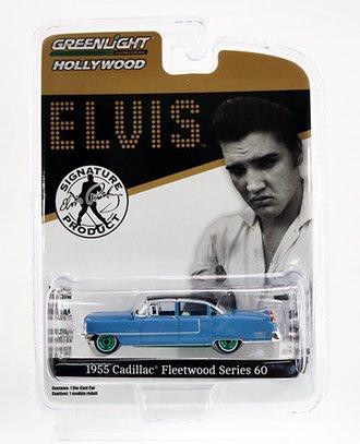 "Chase 1:64 Elvis Presley 1955 Cadillac Fleetwood Series 60 ""Blue Cadillac"""