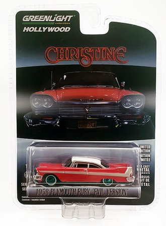 Chase 1:64 Hollywood Series 24 - Christine - 1958 Plymouth (Evil Version w/Blacked Out Windows)