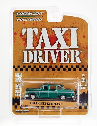 Chase 1:64 Taxi Driver  - Travis Bickle's 1975 Checker Taxicab *** Green Body ***