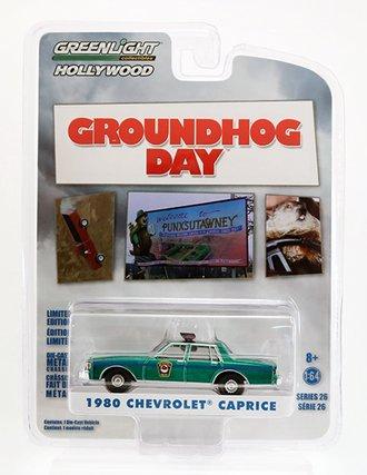 Chase 1:64 Groundhog Day  - 1980 Chevrolet Caprice Police *** Green Body ***
