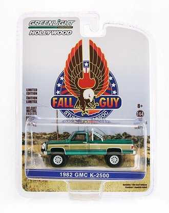 Chase 1:64 Fall Guy Stuntman Association 1982 GMC K-2500 Sierra Grande Wideside *** GREEN Body ***