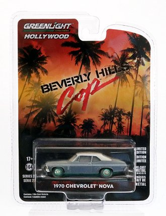 Chase 1:64 Hollywood Series 27 - Beverly Hills Cop (1984) - 1970 Chevrolet Nova